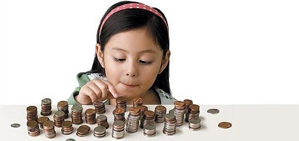 money and children saving